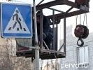 На центральной улице Первоуральска заменили светофоры на светодиодные. Видео. Фото