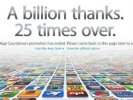 Пользователи App Store скачали более 25 миллиардов приложений
