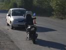 В Первоуральске произошло ДТП с участием легкового автомобиля и скутера. Фото