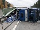 ОБНОВЛЕНО ВИДЕО. Под Первоуральском произошло ДТП. Фура с грушами перевернулась на Федеральной автодороге. Фото