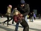 В первый день массового катания на коньках проскользило более тысячи первоуральцев